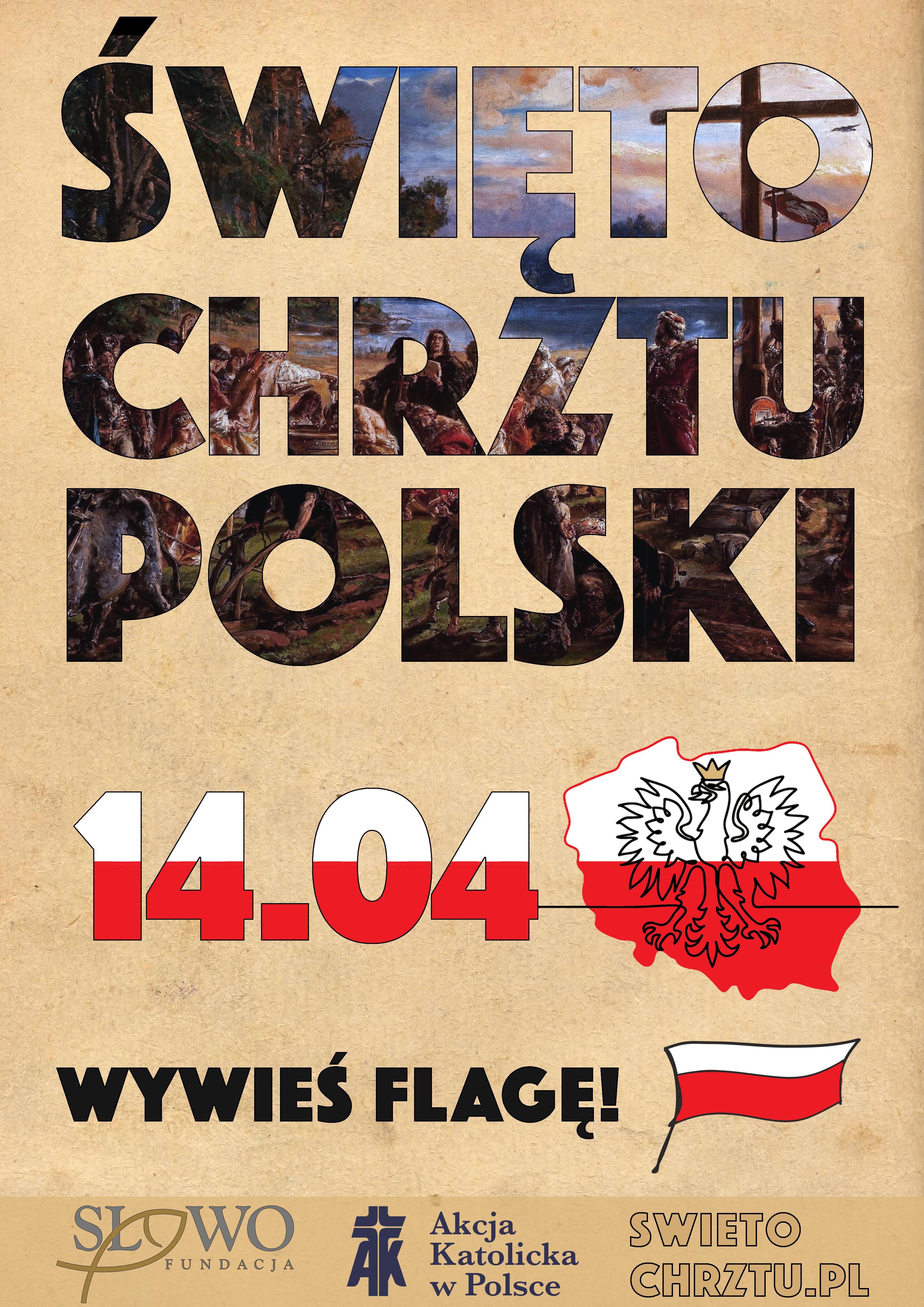 Plakat - Rocznica chrztu Polski